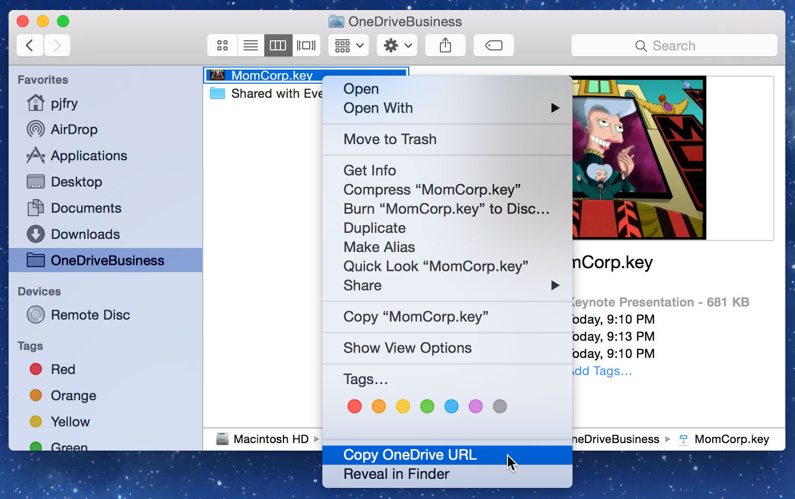 Barry Simpson - Sharing Screenshots on the Mac Using OneDrive for
